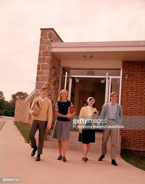 1960 1960s 4 STUDENTS...