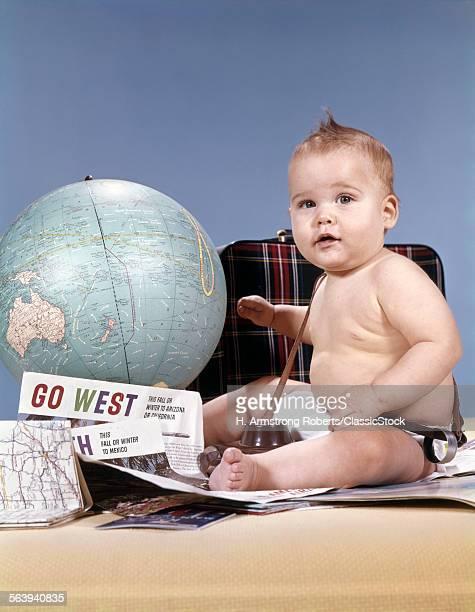 1960s BABY BOY SITTING BY...