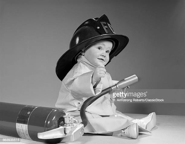 1960s BABY FIREMAN WITH...