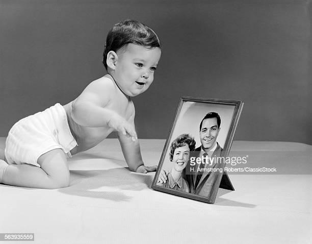 1960s BABY IN DIAPER...