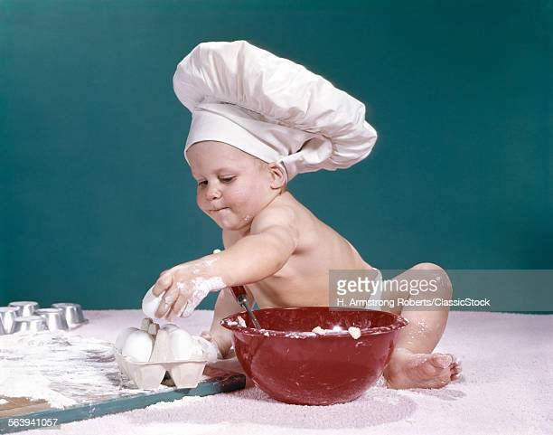 1960s BABY WEARING CHEFS...
