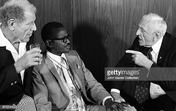 Bill Veeck former major league and negro league pitcher Leroy 'Satchel' Paige and former major league player and manager Charles Dillon 'Casey'...