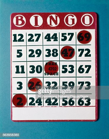 1960s BINGOARD WITH RED...