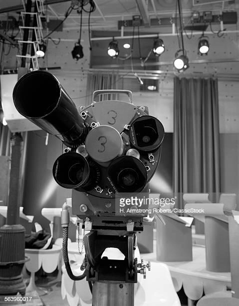 1960s CLOSE-UP OF TV...