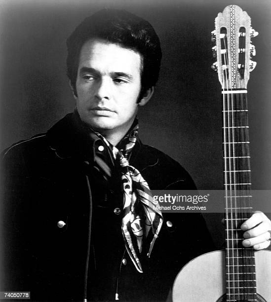 Country musician Merle Haggard poses for a late 1960's portrait