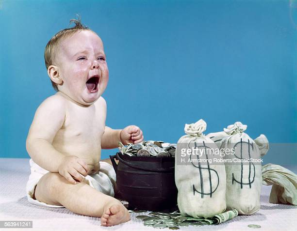 1960s CRYING SHOUTING BABY...