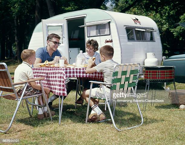 1960s FAMILY CAMPING...