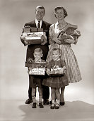 1960s FAMILY PORTRAIT OF...