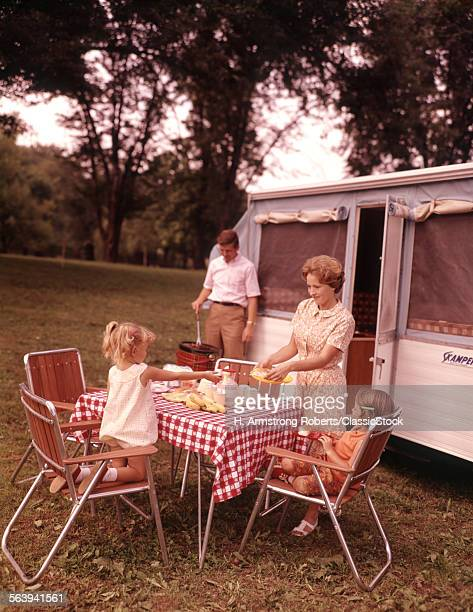 1960s FAMILY RV CAMPING...