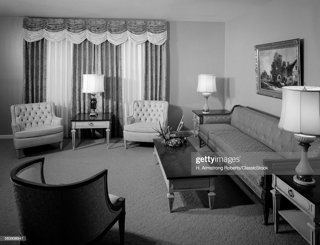 1960S Living Room Magnificent 1960S Formal Living Room Stock Photo  Getty Images Inspiration