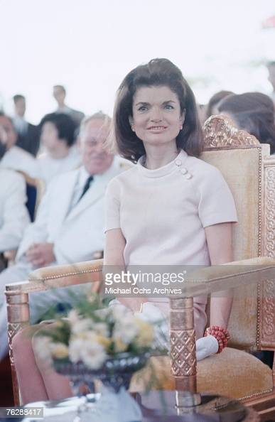 Former First Lady Jacqueline Kennedy attends an event circa 1960s