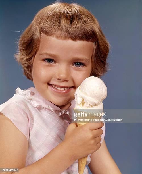 1960s GIRL ICE CREAM CONE...