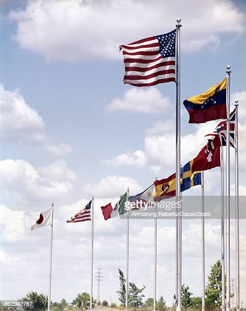 1960s INTERNATIONAL FLAGS...