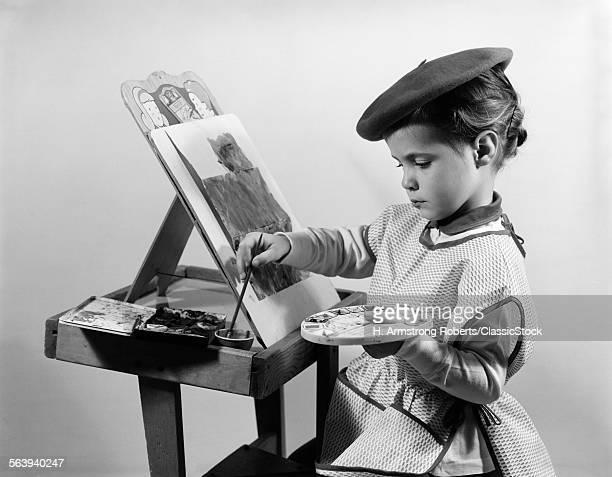 1960s LITTLE GIRL ARTIST...