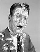 1960s MAN FACE SHOULDERS...
