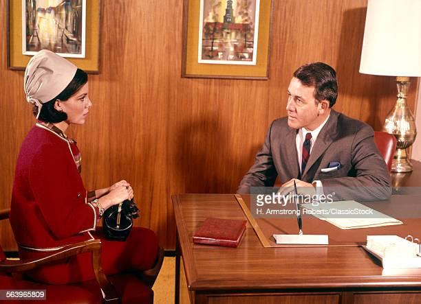 1960s MAN INTERVIEWING...