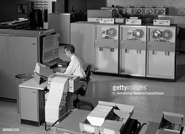1960s MAN PROGRAMMING...
