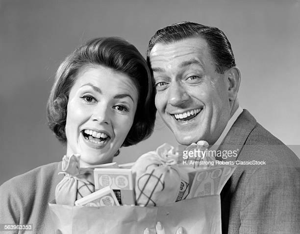 1960s MAN WOMAN COUPLE...