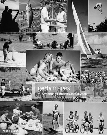 1960s Montage Of People Stock Photo Getty Images