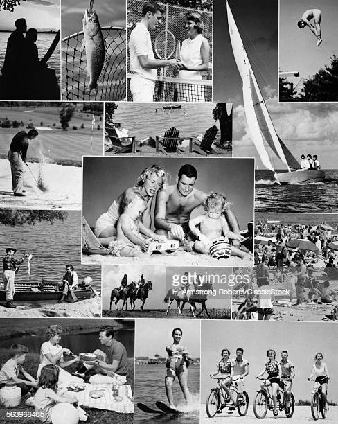 1960s MONTAGE OF PEOPLE...