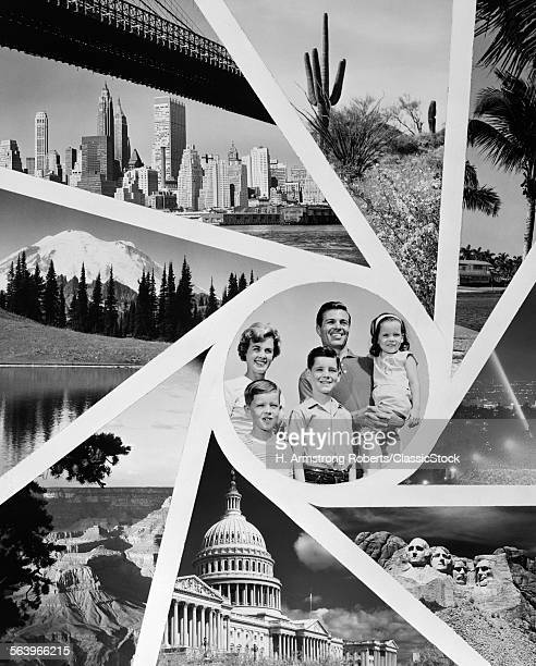 1960s MONTAGE PORTRAIT OF...