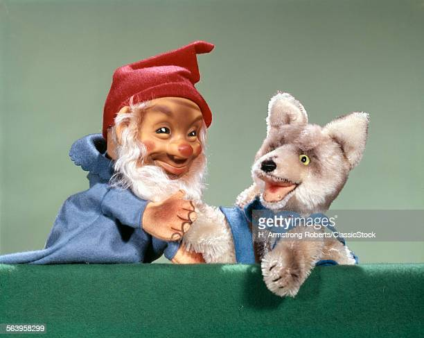 1960s PUPPET SHOW ELF AND DOG