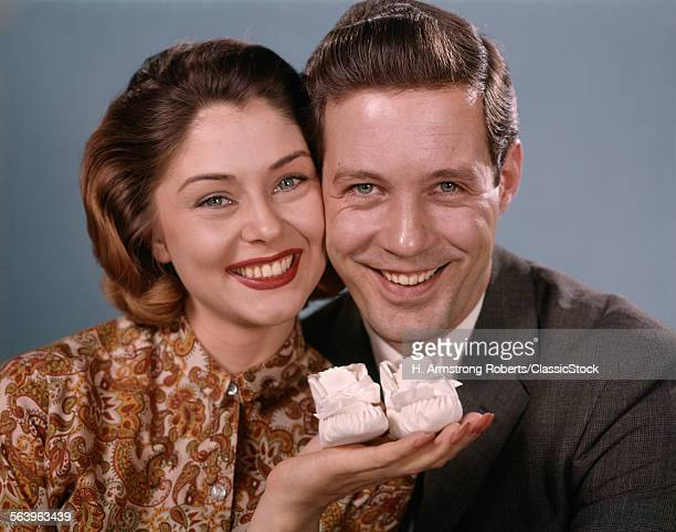 1960s SMILING COUPLE...
