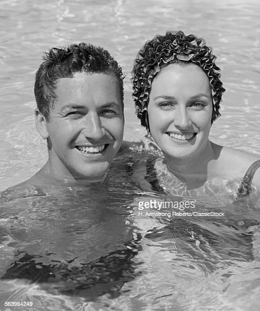 1960s SMILING COUPLE MAN...
