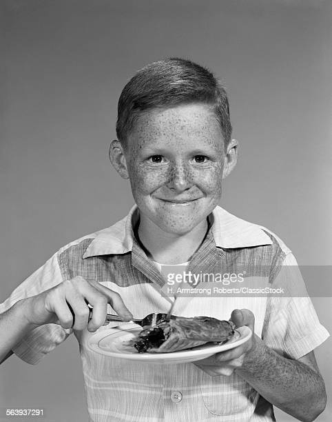 1960s SMILING FRECKLE FACE...