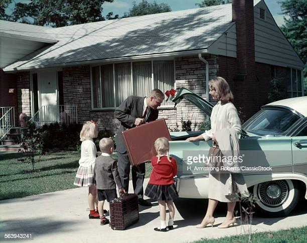1960s SUBURBAN FAMILY...