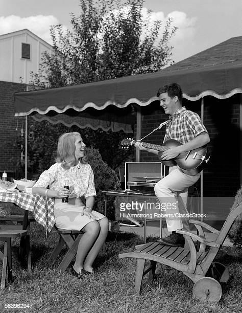1960s TEENAGE COUPLE BOY...