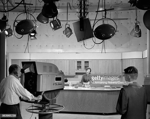 1960s TV STUDIO BEHIND...