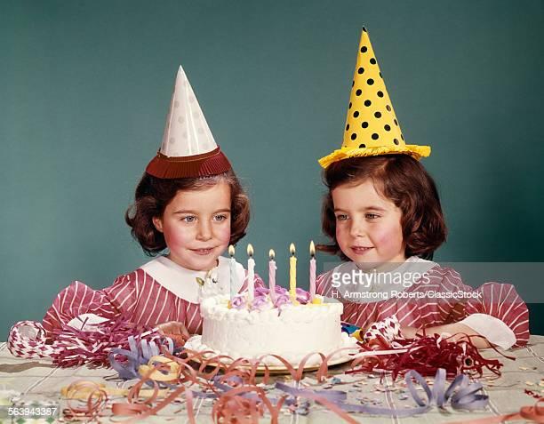 1960s TWIN GIRLS WEARING...