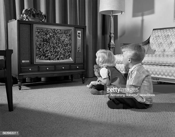 1960s TWO CHILDREN BOY &...