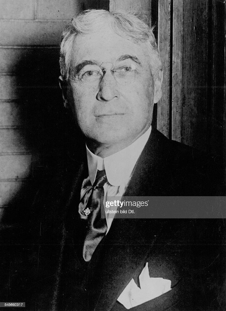 1870 - 1965Wirtschaftspolitiker, USAPorträtum 1925