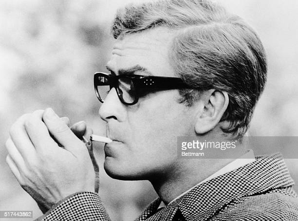 1966London England Michael Caine espionage agent keeps a house across the street under constant surveillance 'The Ipcress File' a suspense drama of...