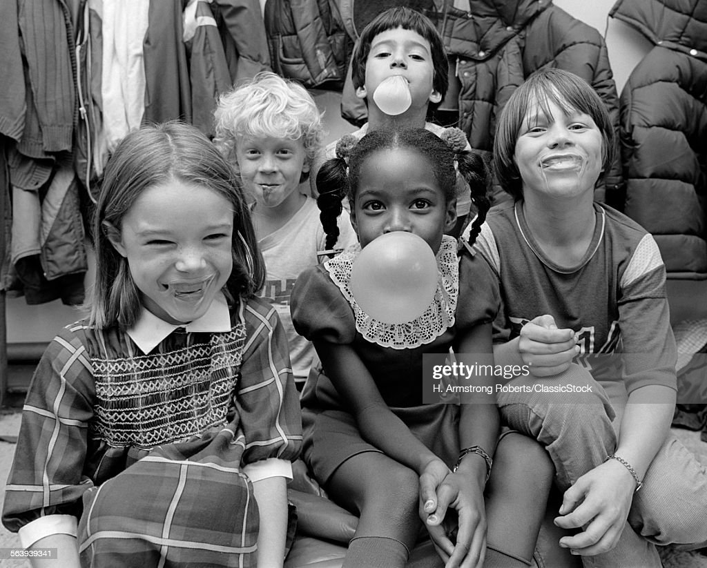 1970s 1980s GROUP OF FIVE... : Stock Photo