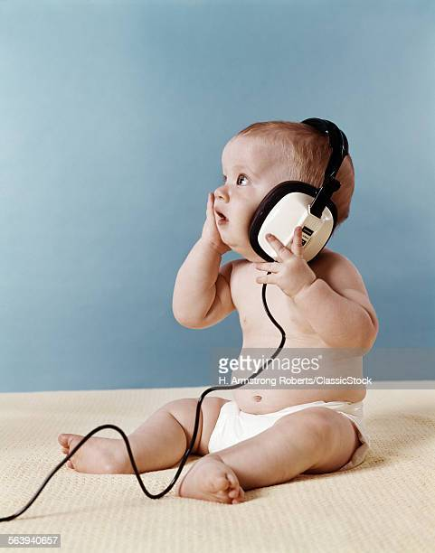 1970s BABY LISTENING TO...