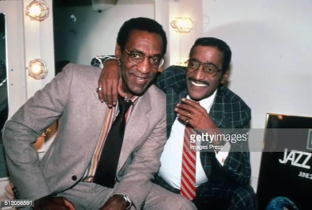 Bill Cosby and Sammy Davis Jr in New York City circa 1970s
