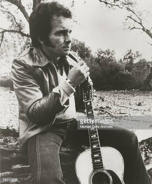 Country singer Merle Haggard poses for a candid portrait in the early 1970's