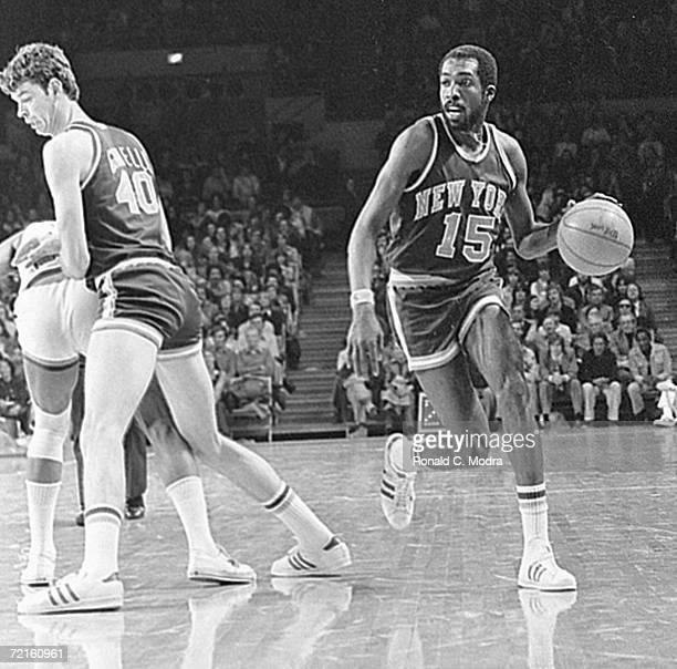 Earl 'The Pearl' Monroe of the New York Knicks in a game in the 1970s in Milwaukee Wisconsin