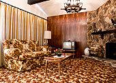 1970s era living room