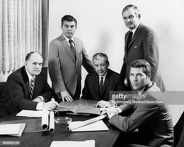 1970s FIVE MEN EXECUTIVES...