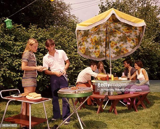 1970s GROUP TEENAGERS BOYS...