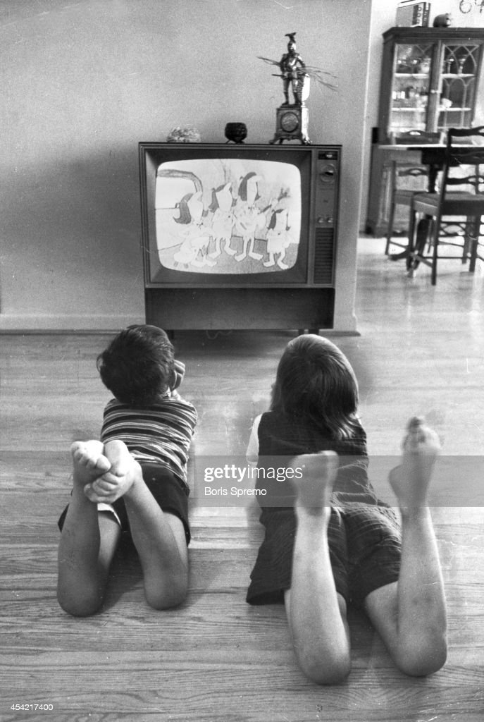 black kids watching tv. kids watching tv. photo taken by boris spremo/toronto star july black tv m