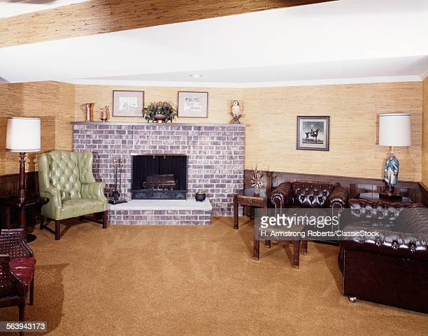 1970s LIVING ROOM INTERIOR...