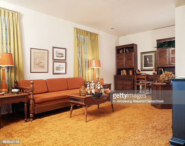1970s LIVING ROOM WITH...