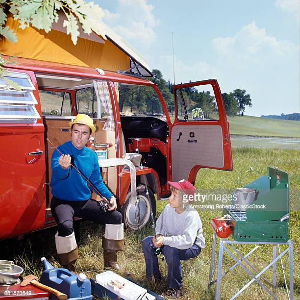 1970s MAN AND BOY CAMPING...