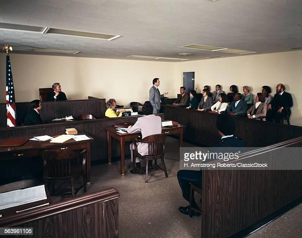 1970s MEN WOMEN COURTROOM...