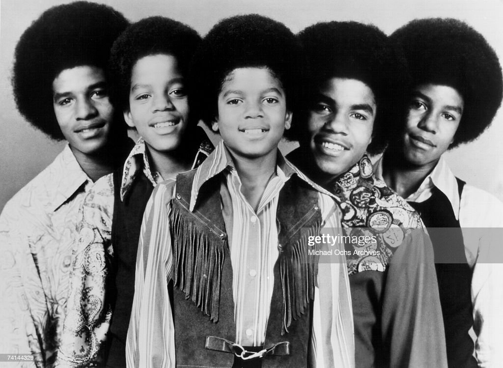 RB quintet of brothers 'Jackson 5' pose for a circa early 1970's portrait Tito Jackson Marlon Jackson Michael Jackson Jackie Jackson Jermaine Jackson